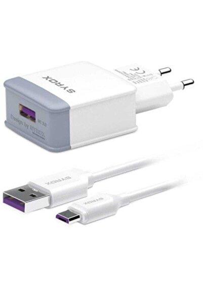 Syrox Hızlı Sarj Seti Q30 3.0 Amper Şarj Aleti Micro-usb
