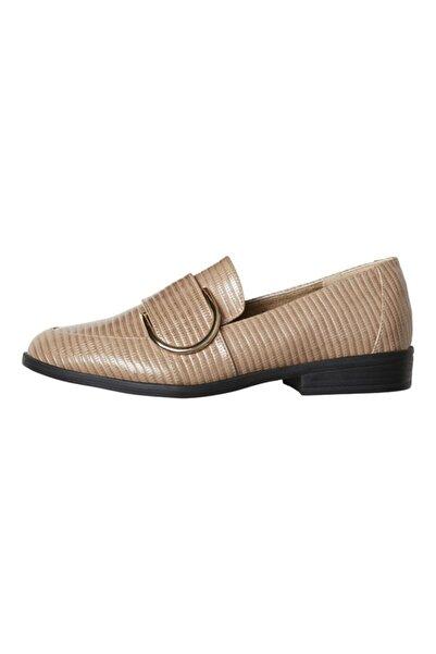 Vero Moda Kadın Bej Loafer Ayakkabı