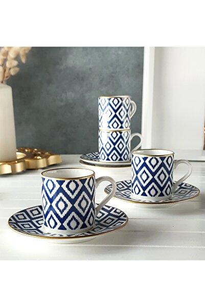 REGNA HOME Harmony Nova Mavi 2 Kişilik Kahve Fincan Takımı