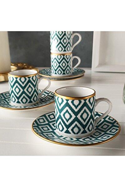 REGNA HOME Harmony Nova Yeşil 2 Kişilik Kahve Fincan Takımı