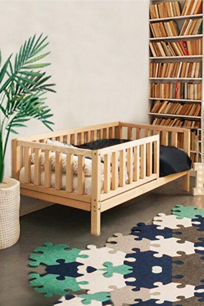 Loolpi Home Unisex Montessori Bebek Ve Çocuk Karyolası Doğal Ahşap Yatak