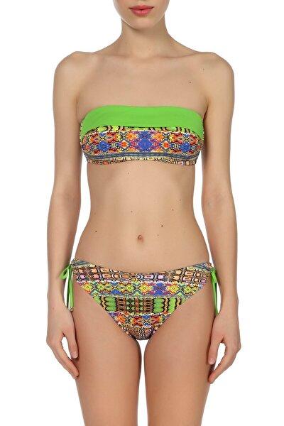 Zeki Triko Kadın Desenli/Renkli Bikini Takımı ZB.1129-19