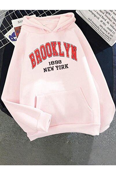 Oksit Hope Brooklyn 1898 New York Baskılı Pamuklu Unisex Oversize Sweatshirt
