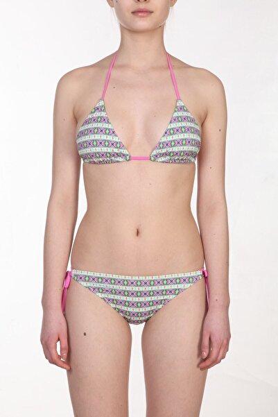 Zeki Triko Kadın Desenli/Renkli Bikini Takımı ZB.1091-19