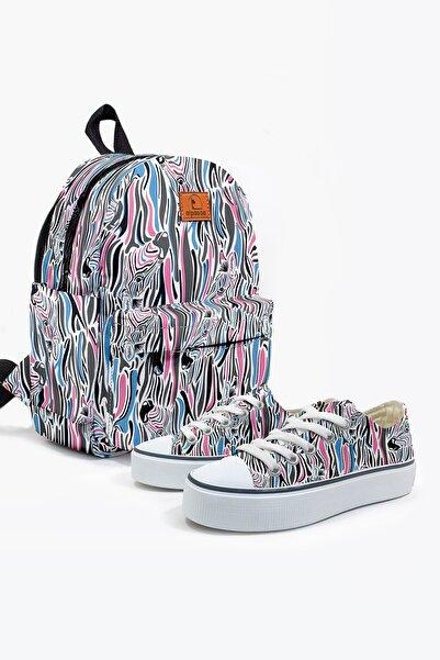 Alpacca Zebras Kadın Ayakkabı & Çanta Kombin