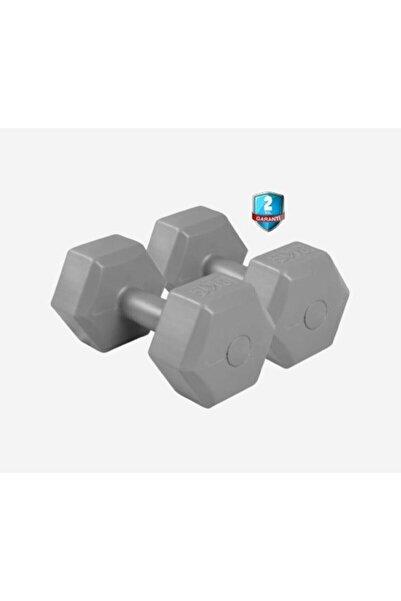 Dynamic Vınyl Dumbbell 8kgx2 Dambıl Gri Set