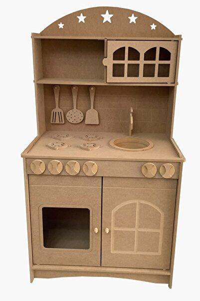 Hedef Ahşap Ahşap Çocuk Oyuncak Mutfak Seti + 2 Adet Led Aydınlatma
