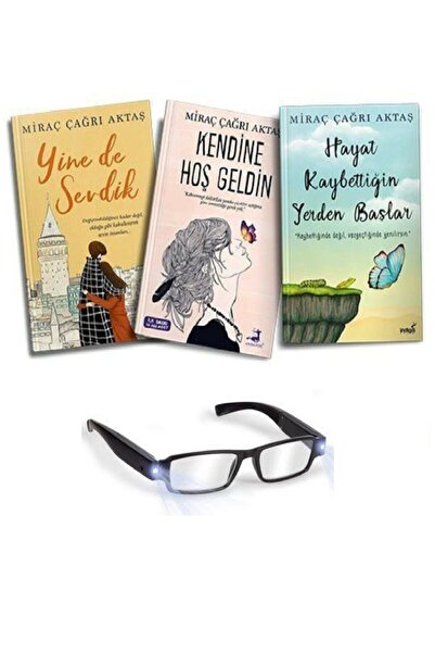 İndigo Kitap Miraç Çağrı Aktaş Hayat Kaybettiğin Yerden Başlar Kendine Hoş Geldin Yine De Sevdik Gözlük Hediyeli