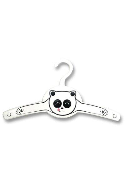 Gondol Pink Pazar Çocuk Bebek Kıyafet Askısı Panda Desenli 12 Adet