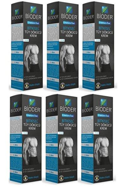 Bioder Bitkisel Tüy Dökücü Krem Erkeklere Özel 100 ml X 6 Adet
