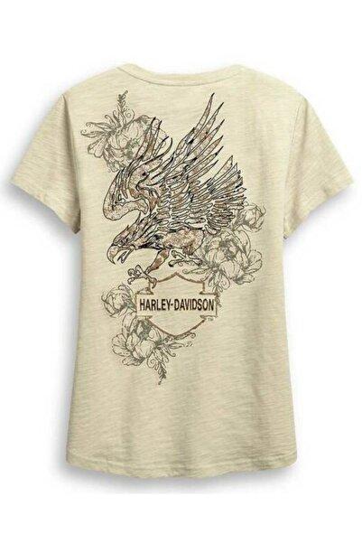 Harley Davidson Harley-davison Krem Rengi Kadın T-shirt