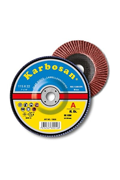 KARBOSAN Ao Flap Disk Zımpara 115mm Nk 80 Kum - 10lu Paket