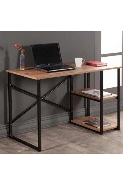 WEBREYON Kahverengi Metal Çalışma Ofis Bilgisayar Laptop Masası 47001wbreyon