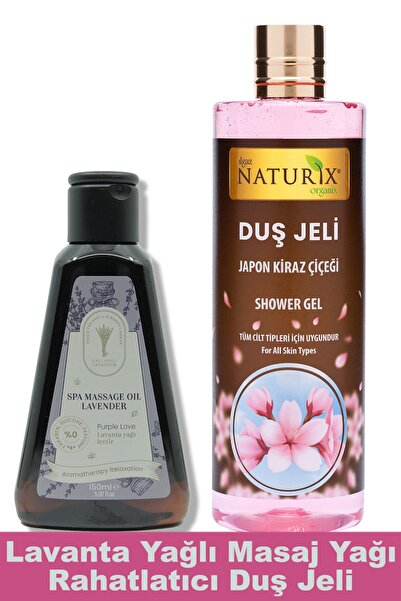 Dr. Lavender 2'li Set Bitkisel Lavanta Yağlı Masaj Yağı Anti Terapi 150 Ml + Japon Kiraz Çiçeği Duş Jeli 400 Ml