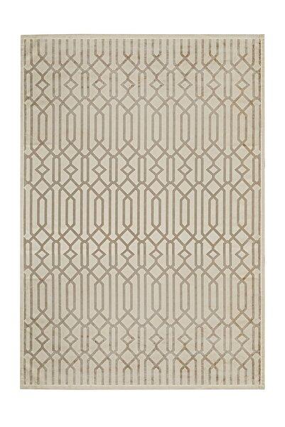 English Home Velvet Geometric Kadife Halı 80x250 Bej
