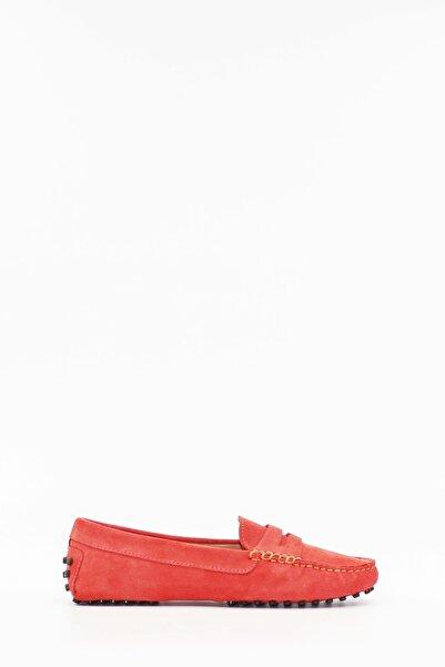 West To West Kadın Loafer Ayakkabı Hakiki Deri Mercansüet