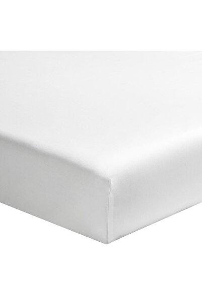 Maki %100 Pamuklu Ranforce Lastikli Çarşaf 200x200 (32 Cm Derin Flaplı) , Beyaz