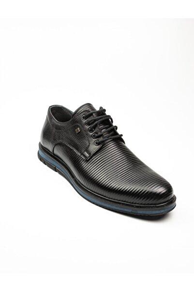 Nobel 1025 Erkek Deri Klasik Ayakkabı Siyah Siyah-45