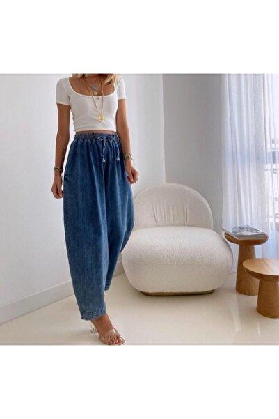 Flow Kadın Denim Pantalon Şalvar Model