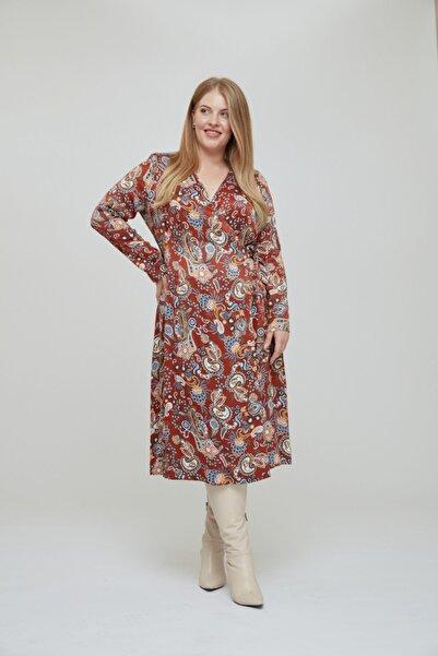 LUOKK Bloom Kruvaze Desenli Elbise