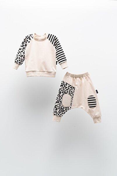 Moi Noi Çizgili Leopar Bebe Takım-bebek Takımı
