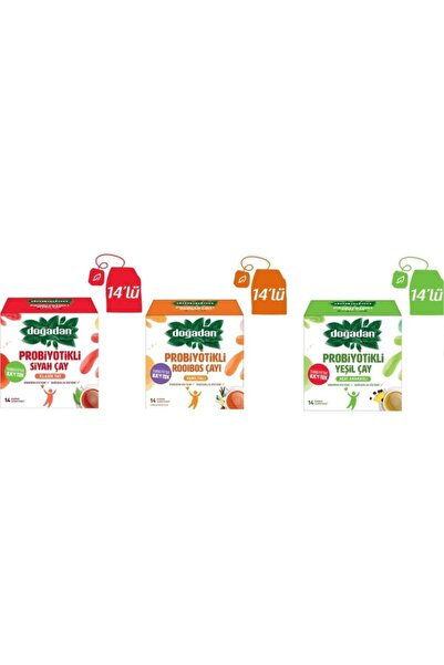 Doğadan Probiyotikli, Deneme Paketi (siyah Çay, Açai Ananaslı Yeşil Çay, Vanilyalı Rooibos Çayı