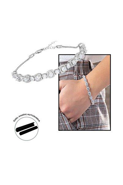 Tesbihane Starlight Diamond Pırlanta Montür Küçük Boy 925 Ayar Gümüş Su Yolu Bileklik