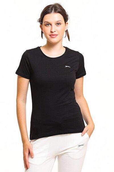 Slazenger Yonca Kadın T-shirt Siyah