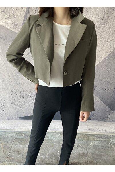 Clothes&Clouds Haki Crop Ceket