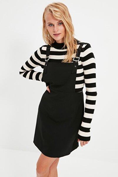 TRENDYOLMİLLA Siyah Askılı Jile Elbise TWOAW21EL1529