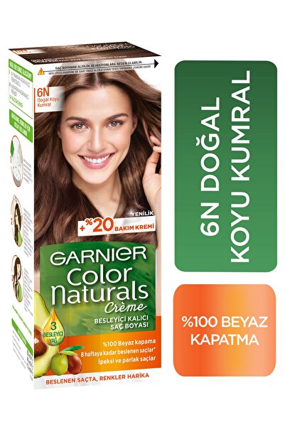 Garnier Color Naturals 6N Doğal Koyu Kumral Saç Boyası