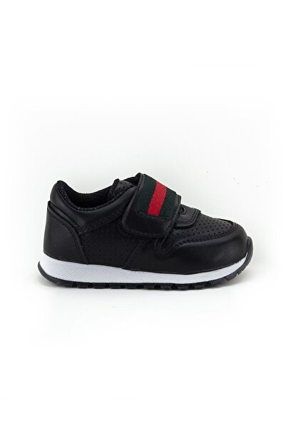 Minipicco Erkek Cocuk Siyah Ortopedik Destekli Çocuk Spor Ayakkabı