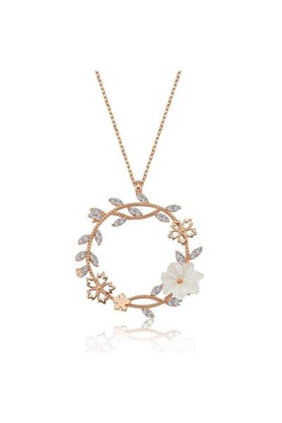 Mia Vento Mevsim Serenatı Rose Renk Flowers Gümüş Kolye
