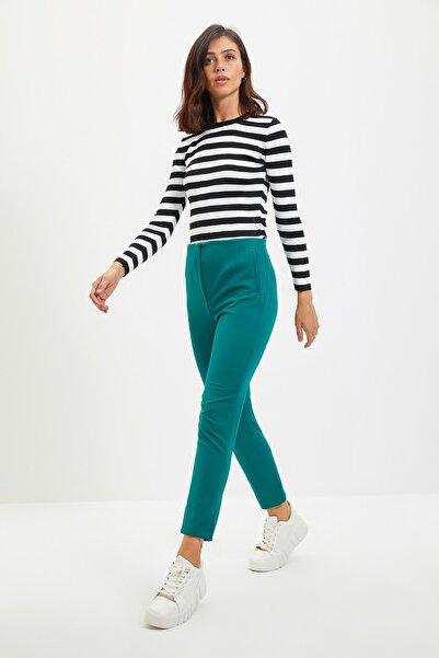 TRENDYOLMİLLA Yeşil Cigarette Pantolon TWOAW22PL0124