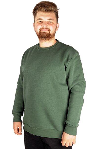 ModeXL Erkek Sweatshirt Bisiklet Yaka Basic 20131 Nefti
