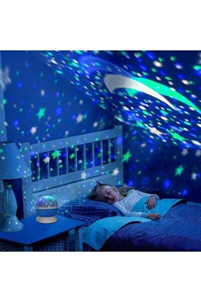EvimShopping Dönen Star Master Renkli Yıldızlı Gökyüzü Projeksiyon Gece Lambası
