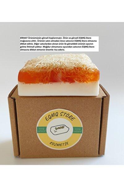 EQMQ STORE KOZMETİK Eqmq Doğal El Yapımı Kabak Lifli Ballı Keçi Sütü Sabunu 120. Gr. 1 Adet