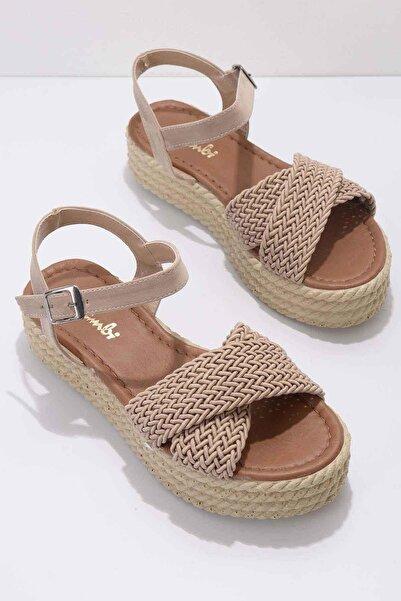Bambi Vizon Kadın Sandalet K05688185316