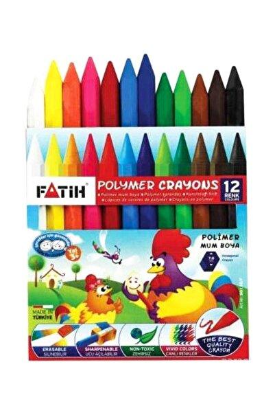Fatih Mum Pastel Boya Polymer Crayons Kısa 12 Renk 50110/F