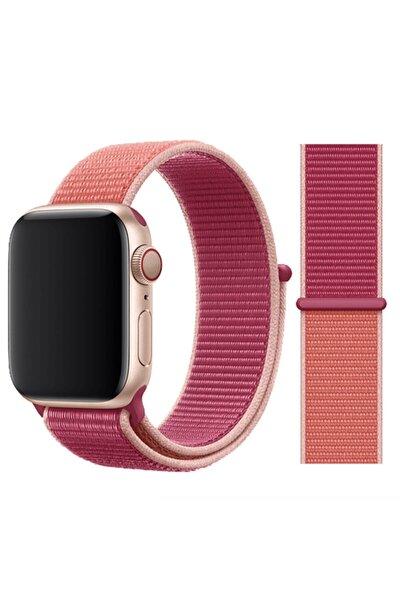 Robotekno Apple Watch 2 3 4 5 6 Se Uyumlu 38 Mm Ve 40 Mm Için Dokuma Kordon Kayış - Nar
