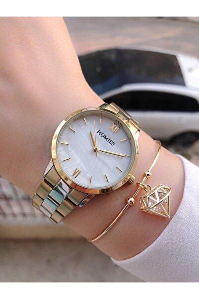Homies Kadın Gold Gümüş Saati