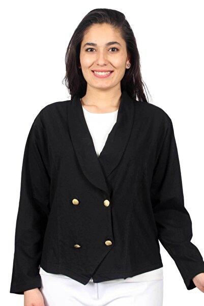 Sude Aydark Kadın Siyah Uzun Kol Kagi Penye Ceket 2002