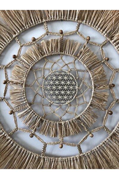 Ruhanda Yaşam Çiçeği Özel Tasarım Bohem Duvar Süsü