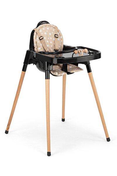 TinyCare Woodie Ahşap Ayaklı Minderli Oyuncaklı Mama Sandalyesi