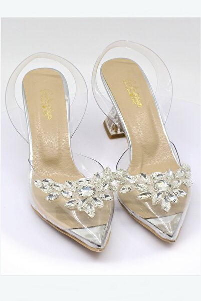 Orkestra Ayakkabı Şeffaf Kristal Ayakkabı