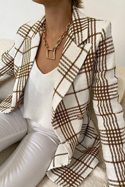 eymenn butik Blazer Ceket Kadın Blazer Ceket Kanguru Cep