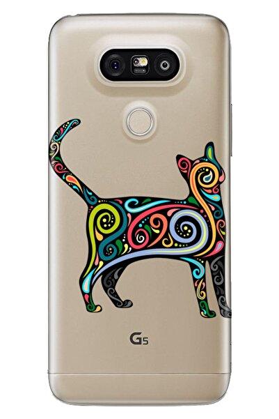 LG G5 Uyumlu Kılıf Pure Modern Desenli Silikon Mandala Cat