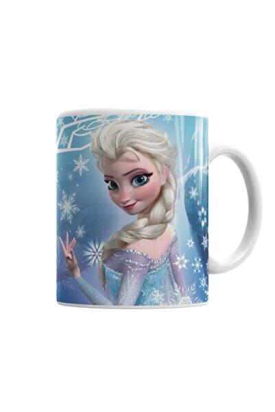 Baskı Dükkanı Frozen Elsa Kupa Bardak Porselen