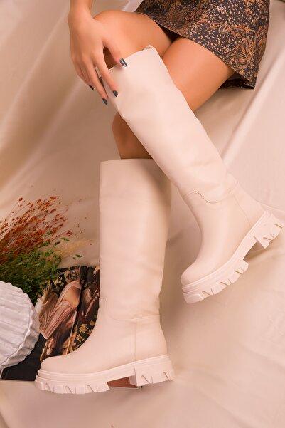 SOHO Kadın Bej Çizme 16514