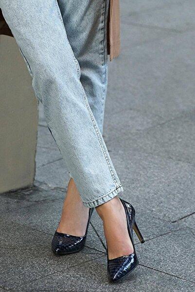 Mio Gusto Kadın Lacivert Stiletto Ayakkabı